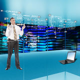 Globalization communications engineering technology. Royalty Free Stock Image