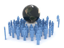Globalization Concept. Geopolitics, global communication, globalization and team work Stock Photography