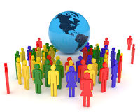 Globalization Concept. Geopolitics, global communication, globalization and team work Royalty Free Stock Photography