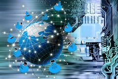 Globalization connection Internet technology. Stock Photography