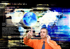 Globalization connection Internet technology Stock Image