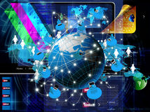 Globalization connection Internet Stock Images