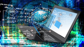 Globalization connection Internet technology. Royalty Free Stock Photo