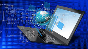 Globalization connection Internet technology. Royalty Free Stock Image