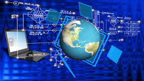 Globalization connection Internet technology. Stock Photo