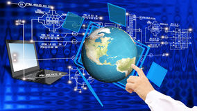 Globalization connection Internet technology. Stock Images