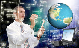 Globalization connection Internet technology. Royalty Free Stock Photos