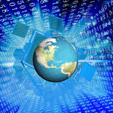 Globalization connection Internet technology. Stock Image