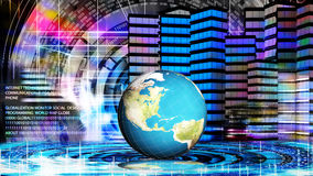 Globalization connection technology and digital communi. Internet.Globalization connection technology and digital communications Stock Images