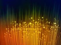 Globalization of fiber optics. Digital illustration Stock Photos