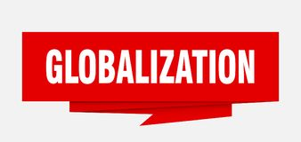 Globalization. Sign.  paper origami speech bubble.  tag.  banner vector illustration