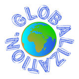 Globalization Globe Royalty Free Stock Photography