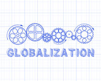Globalization Graph Paper Royalty Free Stock Photos