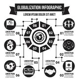 Globalization infographic concept, simple style. Globalization infographic banner concept. Simple illustration of globalization infographic vector poster concept Stock Images