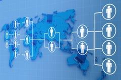 Globalization Internet network. In colour background vector illustration