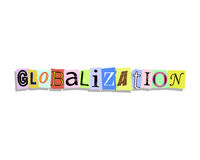 Globalization Paper Letters Stock Photos