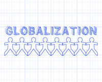 Globalization People Graph Paper Stock Images