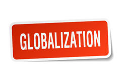 Globalization square sticker Stock Images