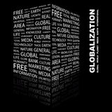 GLOBALIZATION. Word cloud concept illustration. Wordcloud collage Royalty Free Stock Photography
