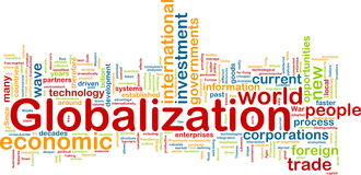 Globalization wordcloud Stock Photo
