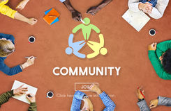 Globalized Community Unity Connection Network Concept Stock Image