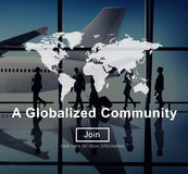 A Globalized Community Worldwide Connection Network Concept Royalty Free Stock Photography