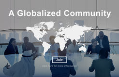 A Globalized Community Worldwide Connection Network Concept Stock Photography