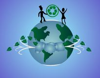 Globally agreeing to a better earth... Stock Photo