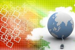 Globally  connecting illustration Stock Photo