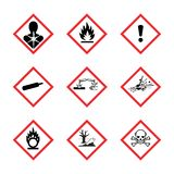 The Globally Harmonized System of Classification and Labeling of Chemicals vector on white background. Illustration royalty free illustration