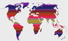 Globalna światowa mapa zdjęcia royalty free