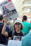 globalna 15 masa Lisbon zajmuje Październik protesty Fotografia Stock