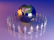 globalna Asia drużyna Obraz Stock
