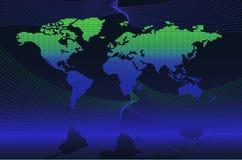 globalna cyfrowa mapa royalty ilustracja