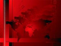 globalna czerwone tło Fotografia Royalty Free