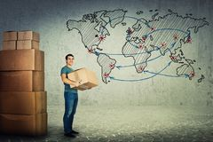 globalna żeglugi fotografia stock