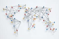 Globalna handlarska sieć, międzynarodowy biznes fotografia stock