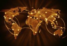 Globalna interakcja Zdjęcia Royalty Free