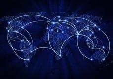 Globalna interakcja Fotografia Stock