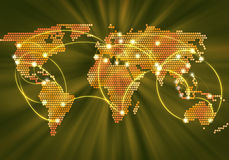Globalna interakcja Zdjęcie Stock