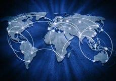 Globalna interakcja Zdjęcie Royalty Free