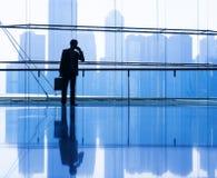 Globalna komunikacja biznesowa w mieście Zdjęcie Stock