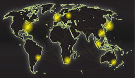Globalna mapa Fotografia Stock