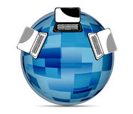 Globalna Ogólnospołeczna medialna ilustracja Zdjęcia Stock