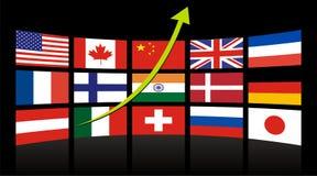globalna osiągnięcie mapa Obrazy Stock