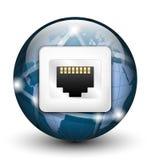 Globalna podłączeniowa ikona również zwrócić corel ilustracji wektora Fotografia Stock