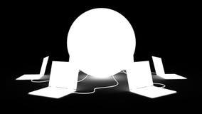 Globalna sieć royalty ilustracja