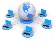 globalna sieć komputerowa ilustracja wektor