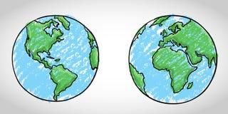 Globalna sztuka Obraz Royalty Free