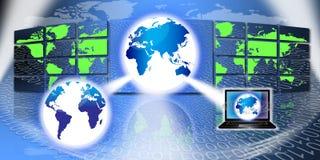 globalna technologie informacyjne ilustracji